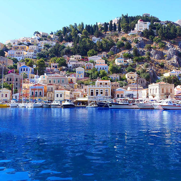 SYMI & PANORMITIS BY BOAT