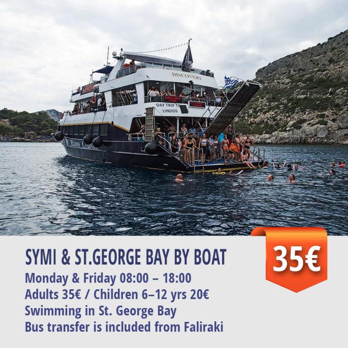 SYMI & ST.GEORGE BAY BY BOAT